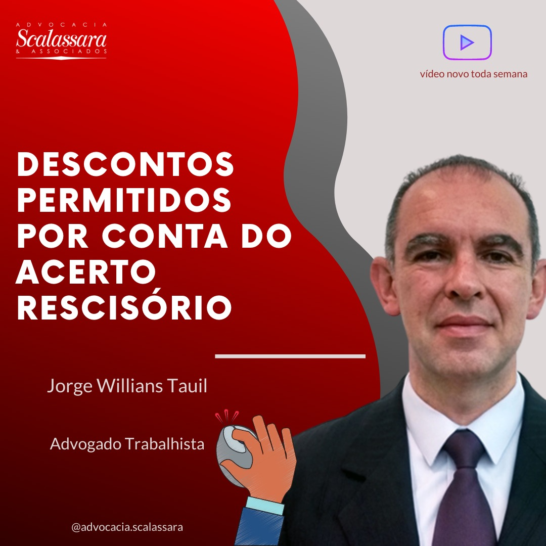 Descontos permitidos por conta do acerto rescisório